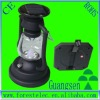 Protable LED solar lantern with hand charging