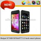 X710D 3g dual core MTK6577 Smart phone 5.3 inch screen mobole phone