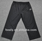 Mesh pants extra size black long pants