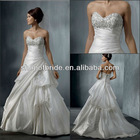 Free Shipping QNWD1129-04 Classical Strapless Beading Layered Wedding Dresses