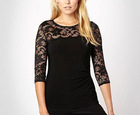 Ladies Long sleeve Lace Top Ck-602