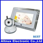 """2.4G Wireless Two-Way Baby Monitor 7"""" LCD Night Version Camera Security System SC57"""