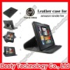 Black 360 Degree Rotatory Stand Leather Case for Amazon Kindle Fire with Elastic Strip