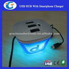 USB HUB With Smartphone Charger