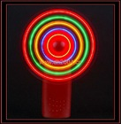 Luminous hand-held mini fan for cooling