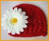 Knitted crochet hat
