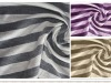 Rayon linen single jersey yarn dyed fabric