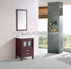 Solid wood bathroom furniture vanity set