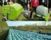 Round Maize silage bale machine