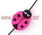 100 Painted Ladybug Wood Spacer Beads Findings 19x15mm