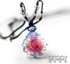 [Super Deal] Cast Crystal Glass Pendant--Flower Shape
