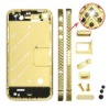 Gold Middle Faceplates for iPhone 4 - Black Arrow Rhinestone