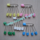 Gorgeous 55mm Assorted Color Plastic Head Safety Pin