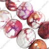 Leopard agate beads, roundel, 16x12mm, sold per 15-inch strand