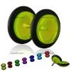 acrylic fake ear plugs earring with O-rings