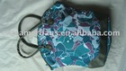 floral leather handbags Blue printing tote with 600dpvc