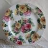 Bone china dinner plate england style flower design