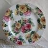 Bone china dinner plate england style flower design
