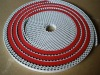 PU Timing belt coating red rubber super grip, rubber/linatex coated timing belt