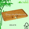 Natural bamboo wine party tray with a hole