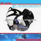Black silicone diving mask,single lens scuba mask