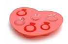 love ring silcone ice cube tray