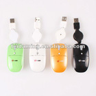 New USB Retractable Wired Optical Mini Mouse Mice for Laptop PC Computer Notebook Mac
