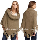 Women Latest Design Knitted Wraps/ Tippet/ Poncho