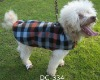 Checker polar fleece warm and windproof customize dog coats and jackets