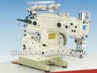 Versatile vertical cylinder type interlock sewing machine,three needle five thread