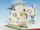 Versatile vertical cylinder type interlock sewing machine,three needle five thread