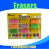 student colorful cap pencil eraser set