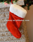 delicate christmas santa stocking,traditional christmas stocking