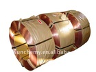 Tyre steel bead wire coated by copper