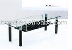 High quality tempered glass PVC tube coffee table