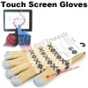 Cotton Touch Screen Gloves /Ethnic Customs Thicken 5 Point Cotton Touch Screen Gloves for Tablet PC/iPhone/iPad/HTC/Samsung