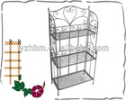 decorative folding metal grid storage shelf