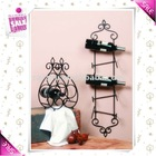 Wall mounted metal wine rack