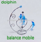 Acrylic decorative dolphin balance mobile desk toys