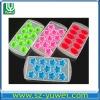 silicon new ice mould FDA custom 10 -11 pcs solid color silicone ice cube tray