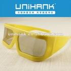 plastic frame Linear polarized 3d glasses for 3d tv