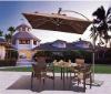 2013 new hot sales waterproof aluminum patio umbrella parts with led light