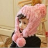 latest stylish rabbit fur earflap hat for children