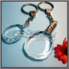 3D Laser Engraved Crystal Keychain With Led Light for Promotional Gift