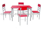 Modern Red color Dining set