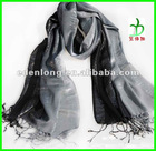 Trendy Design Square Winter Neck Scarf With Fringes