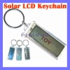 Fashion LCD Solar Keychain Promotional Gifts Novelty Gift
