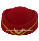 fashion red wool felt lady hat