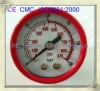 Red plastic general service gauges