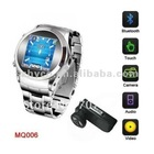 1.3 inch TFT touch screen MQ006 Cell Phone Stainless Steel Wrist Watch Mobile MP3 MP4 Silver Unlocked